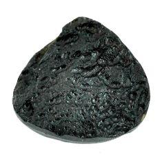 Natural 31.30cts tektite black cabochon 27.5x27 mm heart loose gemstone s22051