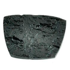 Natural 30.10cts tektite black cabochon 30x22.5 mm fancy loose gemstone s22058
