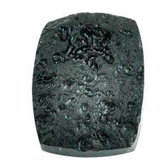 Natural 45.15cts tektite black cabochon 30x22.5 mm octagan loose gemstone s22057