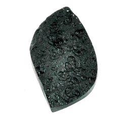 Natural 27.35cts tektite black cabochon 33.5x18.5 mm fancy loose gemstone s22049
