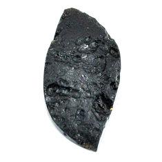 Natural 27.35cts tektite black cabochon 36x17 mm fancy loose gemstone s22029