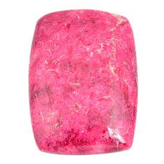Natural 30.10cts thulite pink 26.5x18 mm octagan loose gemstone s22276