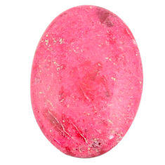 Natural 23.45cts thulite pink 28x18.5 mm oval loose gemstone s22241