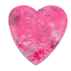 Natural 13.40cts thulite pink cabochon 21x19 mm heart loose gemstone s24828