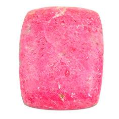 Natural 32.35cts thulite pink cabochon 26x20 mm octagan loose gemstone s22249