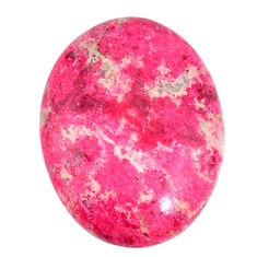 Natural 26.20cts thulite pink cabochon 27x20 mm oval loose gemstone s22279