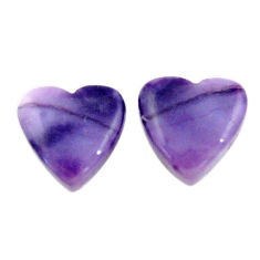 Natural 7.35cts tiffany stone purple 12x11 mm pair loose gemstone s18917