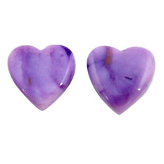 Natural 10.15cts tiffany stone purple 13.5x13 mm pair loose gemstone s18912