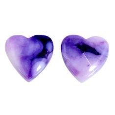 Natural 10.05cts tiffany stone purple 13.5x13.5 mm pair loose gemstone s19574