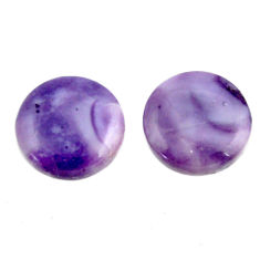 tiffany stone purple 13.5x13.5mm loose pair gemstone s16887