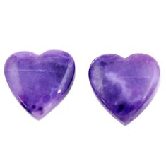 Natural 10.30cts tiffany stone purple 14x13.5 mm pair loose gemstone s18908