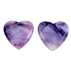 Natural 14.45cts tiffany stone purple 15.5x15.5mm loose pair gemstone s16897