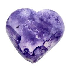 Natural 7.35cts tiffany stone purple 16.5x15 mm heart loose gemstone s18483