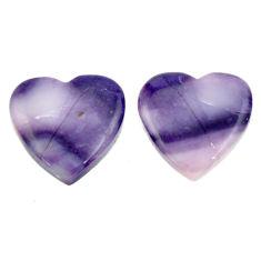 Natural 13.45cts tiffany stone purple 16x15.5 mm loose pair gemstone s16895