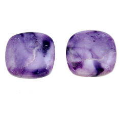 Natural 16.30cts tiffany stone purple 16x16 mm loose pair gemstone s16894