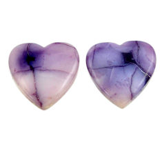 tiffany stone purple 16x16 mm loose pair gemstone s16901