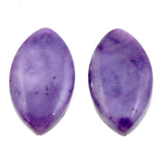 tiffany stone purple 17x10 mm loose pair gemstone s16899