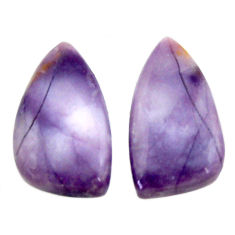 Natural 11.30cts tiffany stone purple 18x10 mm loose pair gemstone s16890