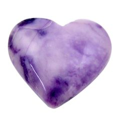 Natural 10.15cts tiffany stone purple 18x16 mm heart loose gemstone s18482
