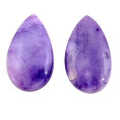 Natural 12.40cts tiffany stone purple 20x11 mm pair loose gemstone s18915
