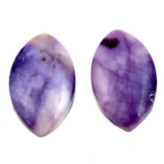 tiffany stone purple 20x12 mm loose pair gemstone s16889