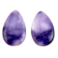 Natural 10.15cts tiffany stone purple 20x12 mm loose pair gemstone s16903
