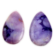 tiffany stone purple 20x12 mm loose pair gemstone s16906