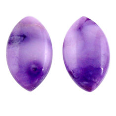 Natural 12.40cts tiffany stone purple 20x12 mm pair loose gemstone s18913