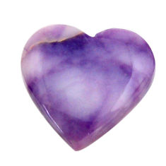 Natural 12.40cts tiffany stone purple 20x20 mm heart loose gemstone s18486