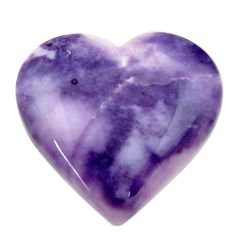 Natural 12.40cts tiffany stone purple 20x20 mm heart loose gemstone s18487