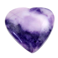 Natural 16.30cts tiffany stone purple 22x21 mm heart loose gemstone s18484