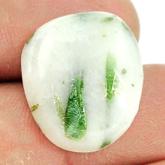 Natural 25.10cts tourmaline in quartz green 21x18 mm fancy loose gemstone s22128