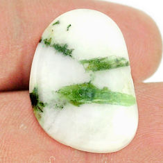 Natural 21.25cts tourmaline in quartz green 24x16.5 mm loose gemstone s22125