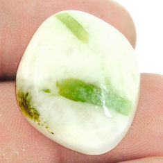 Natural 43.40cts tourmaline in quartz green 24x20 mm fancy loose gemstone s22138