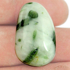 Natural 35.30cts tourmaline in quartz green 27x17 mm fancy loose gemstone s22177