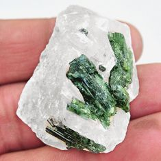 Natural 101.15cts tourmaline in quartz green rough 41x30mm loose gemstone s19049