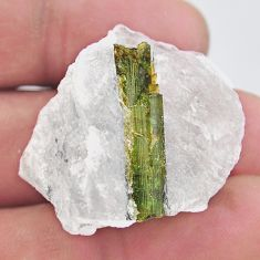 Natural 79.45cts tourmaline in quartz rough 32.5x30mm loose gemstone s19054
