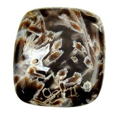 Natural 45.10cts turkish stick agate brown 30x26mm cushion loose gemstone s16970