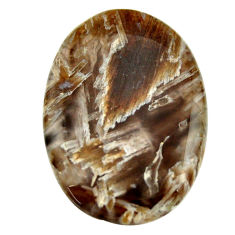 Natural 34.45cts turkish stick agate brown 35x25 mm oval loose gemstone s16964