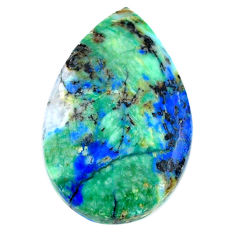 Natural 22.40cts turquoise azurite cabochon 26x17 mm pear loose gemstone s21303