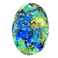 Natural 29.35cts turquoise azurite cabochon 26x18 mm oval loose gemstone s21283