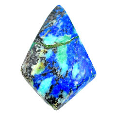 Natural 27.40cts turquoise azurite cabochon 30x20 mm fancy loose gemstone s21286