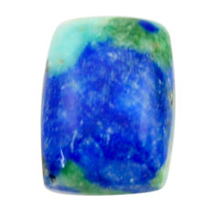 Natural 16.20cts turquoise azurite green 16.5x12mm octagan loose gemstone s18531