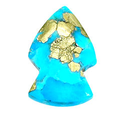 Natural 14.35cts turquoise pyrite blue 23.5x15 mm arrow loose gemstone s21802