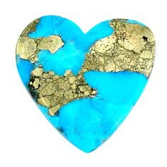 Natural 19.20cts turquoise pyrite blue 25x25 mm loose gemstone s21810