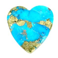 Natural 21.25cts turquoise pyrite blue 27x26 mm loose gemstone s21806