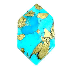 Natural 16.30cts turquoise pyrite blue 28x16 mm loose gemstone s21803
