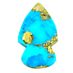 Natural 19.45cts turquoise pyrite blue 29x16 mm arrow loose gemstone s21815