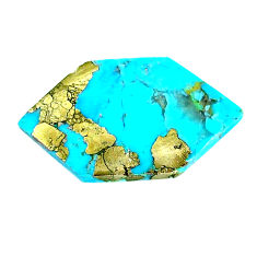 Natural 14.35cts turquoise pyrite blue 29x16 mm loose gemstone s21812