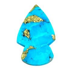 Natural 19.35cts turquoise pyrite blue 30x18 mm arrow loose gemstone s21817